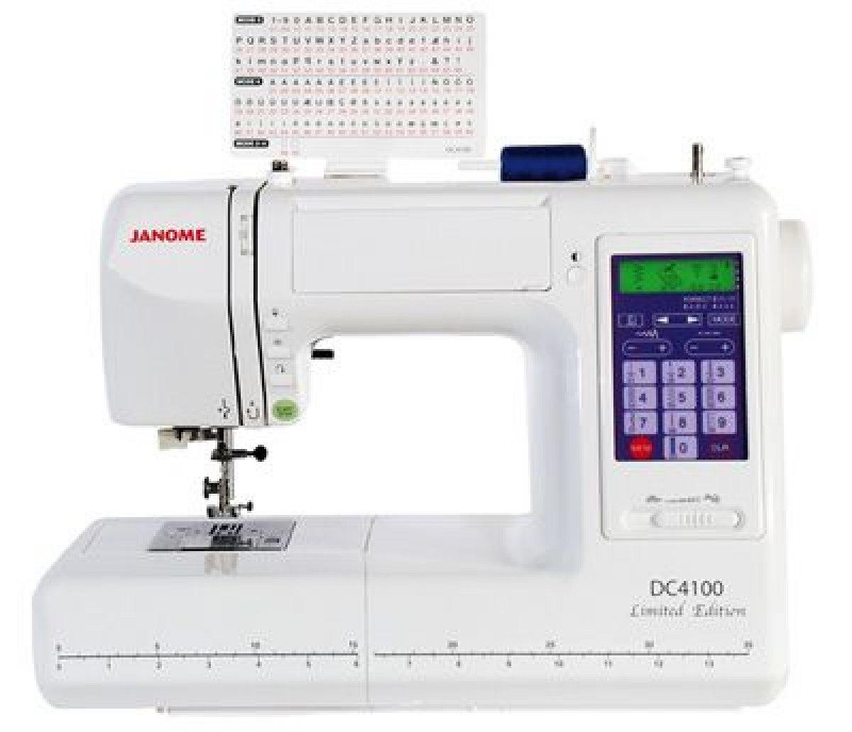 Janome macchina per cucire janome dc4100 del giudice e for Prezzi macchine da cucire