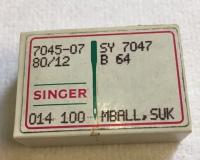 SCATOLA DA 100 AGHI SINGER SISTEMA B64SUK FINEZZA 80